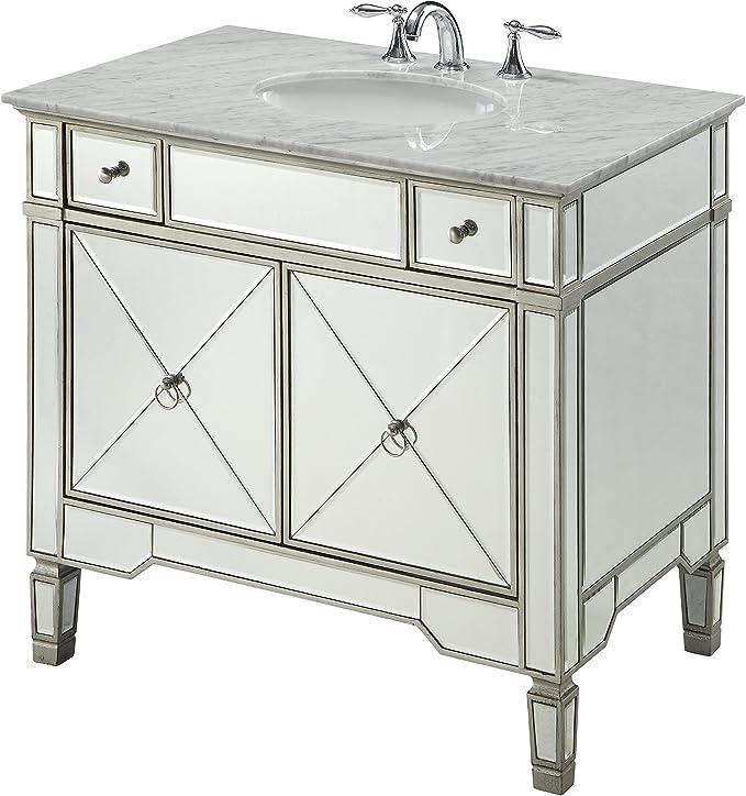 36 All Mirrored Reflection Ashlyn Bathroom Sink Vanity Model Yr 023ra 36 Kitchen Dining Amazon Com
