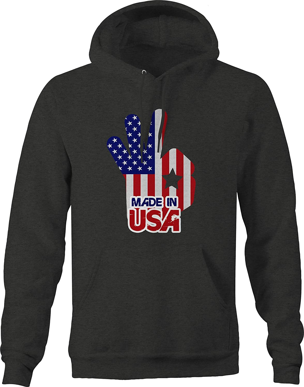 Made in The USA American Flag Okay Sweatshirt