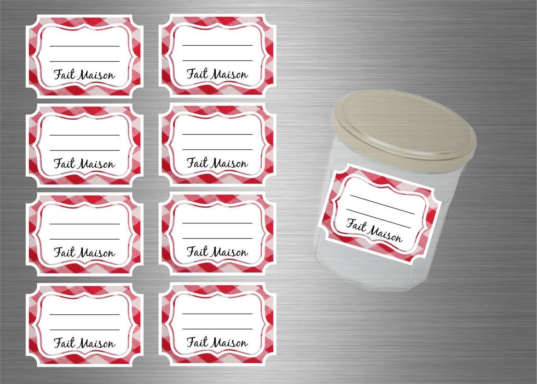 Set di etichetta adesivo per marmellate Conserve Vasi–Set di 96 Akacha