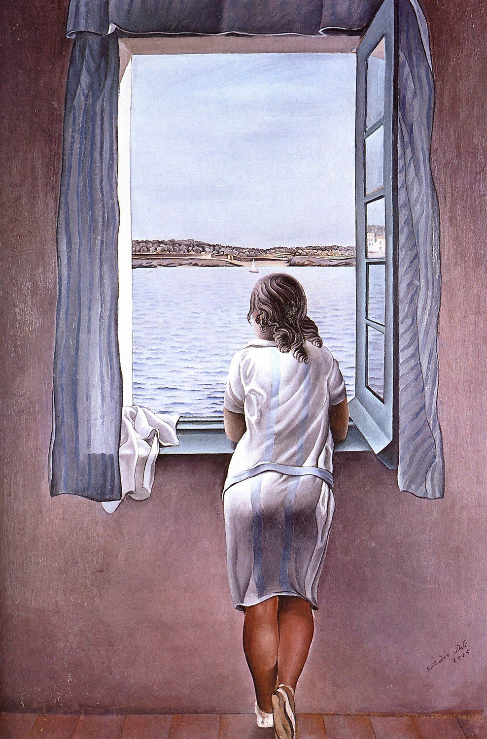 Odsan Gallery Figure At A Window - By Salvador Dali - Canvas Prints 20'' by 30'' Unframed