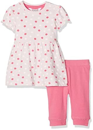 f244303f3e27ee Kanz Baby Girls' Kleid 1/4 Arm + Leggings Clothing Set, Multicolour  (Allover 0003), 0-3 Months: Amazon.co.uk: Clothing