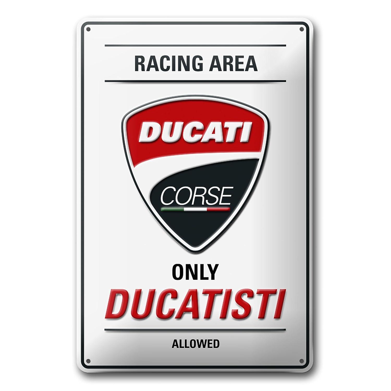 Ducati 987699450 Plaque en mé tal en Forme de Panneau de signalisation Corse Racing Area