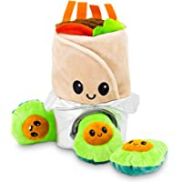 Pet Craft Supply Hide and Seek Plush Dog Toys Crinkle Squeaky Interactive Burrow Activity Puzzle Chew Fetch Treat Hiding…