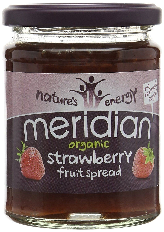 Meridian Organic Strawberry Fruit Spread 284g (Pack of 3) by Meridian Foods