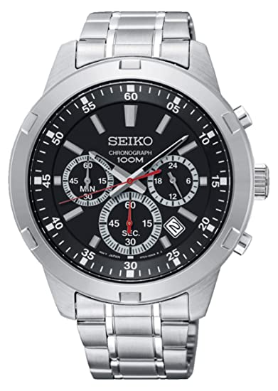 Amazon.com: RELOJ SEIKO CUARZO Caballero SKS605P1 Acero ...