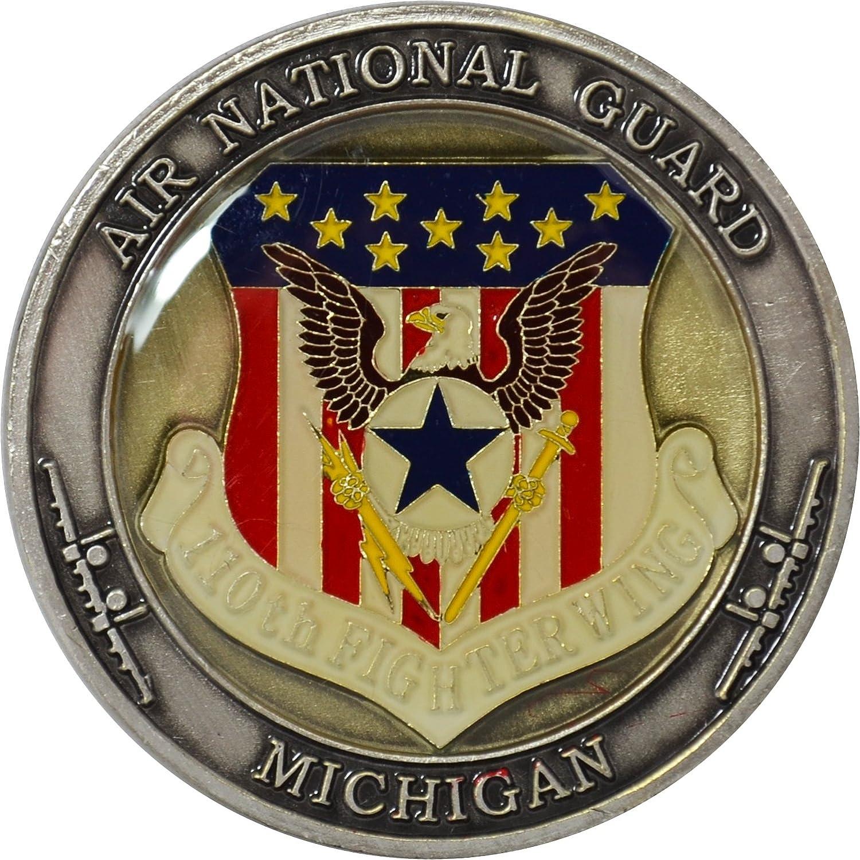 BATTLE CREEK MICHIGAN AIR NATIONAL GUARD AIR FORCE A-10 WARTHOG CHALLENGE COIN