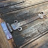 herraje forjado puertas Antikas cerramiento antiguo dise/ño como viejo cerrojo pestillo bilateral con anillo para la puerta de jard/ín bisagra bisagras hierro bisagras antiguas