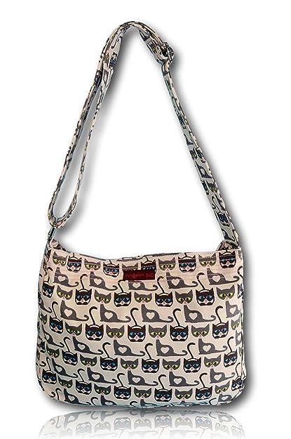 6467c92214f6 Amazon.com | Bungalow 360 Large Messenger Bag (CAT) | Messenger Bags