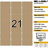 Mr-Label 525 vuote etichette marrone Kraft - 63.5x38.1mm - per il laser e getto d'inchiostro - 25 fogli