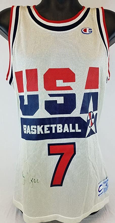 50bec5c93 Autographed Larry Bird Jersey - Team USA Champion COA  S39336 - JSA  Certified - Autographed