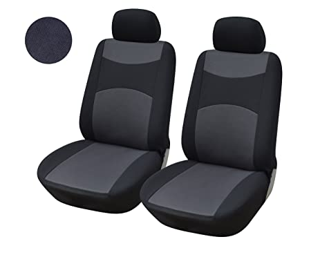 116001 Black Fabric 2 Front Car Seat Covers Compatible To Subaru Impreza WRX Legacy Forester