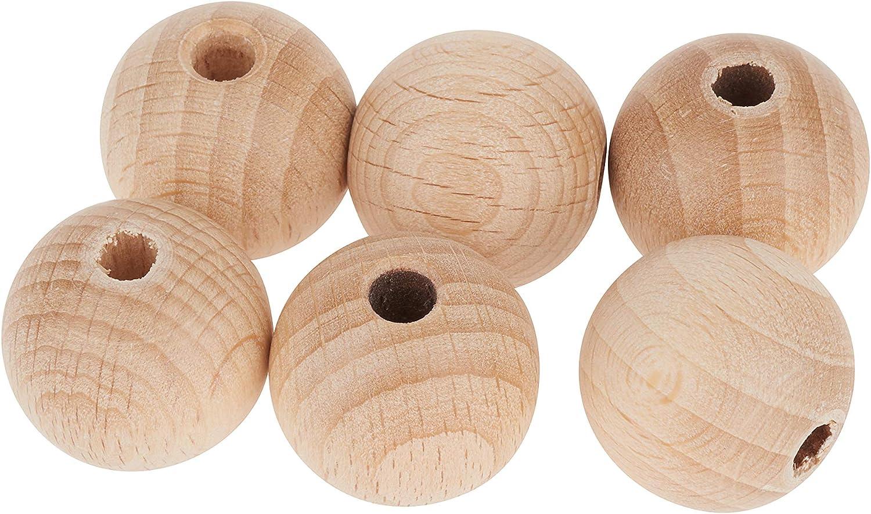 FSC Holzperlen Perlen Natur durchgebohrt Holzkugeln