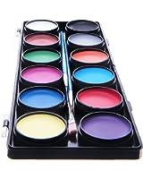 Blu Squid Premium Face Paint kit | 12colori palette, 30stampini, 3pennelli da pittura per bambini e adulti, qualità professionale | | a base d' acqua non tossico approvato dalla FDA | + online guide