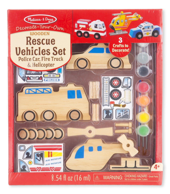 amazon com melissa u0026 doug decorate your own wooden rescue