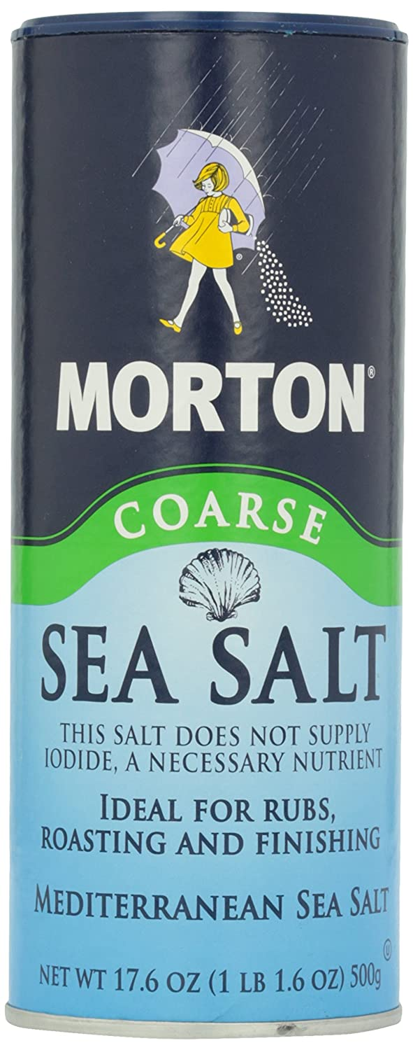 Morton Coarse Sea Salt, 17.60 oz