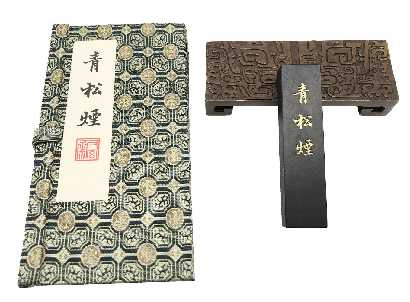 Easyou Youxuanzhai Ink Stick Refined Pine Soot in Ancient Tech for Chinese Japaness Calligraphy Painting QSY