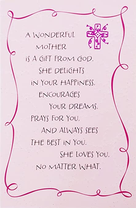 Amazon a wonderful mother is a gift for god religious a wonderful mother is a gift for god religious mothers day greeting card quot m4hsunfo