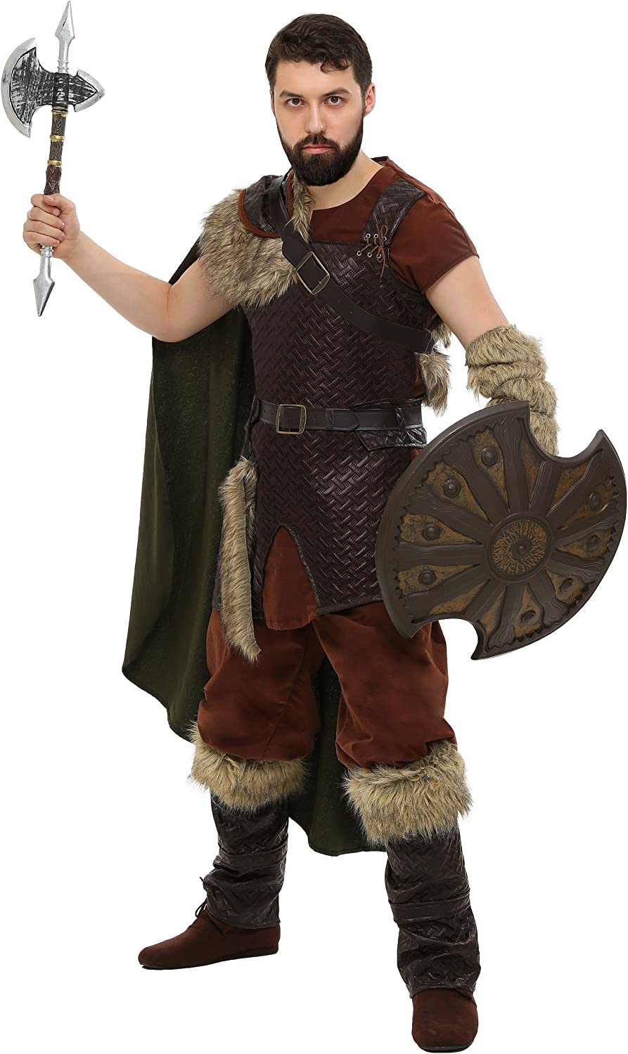 Adult Nordic Viking Fancy dress costume X-Large: Amazon.es ...
