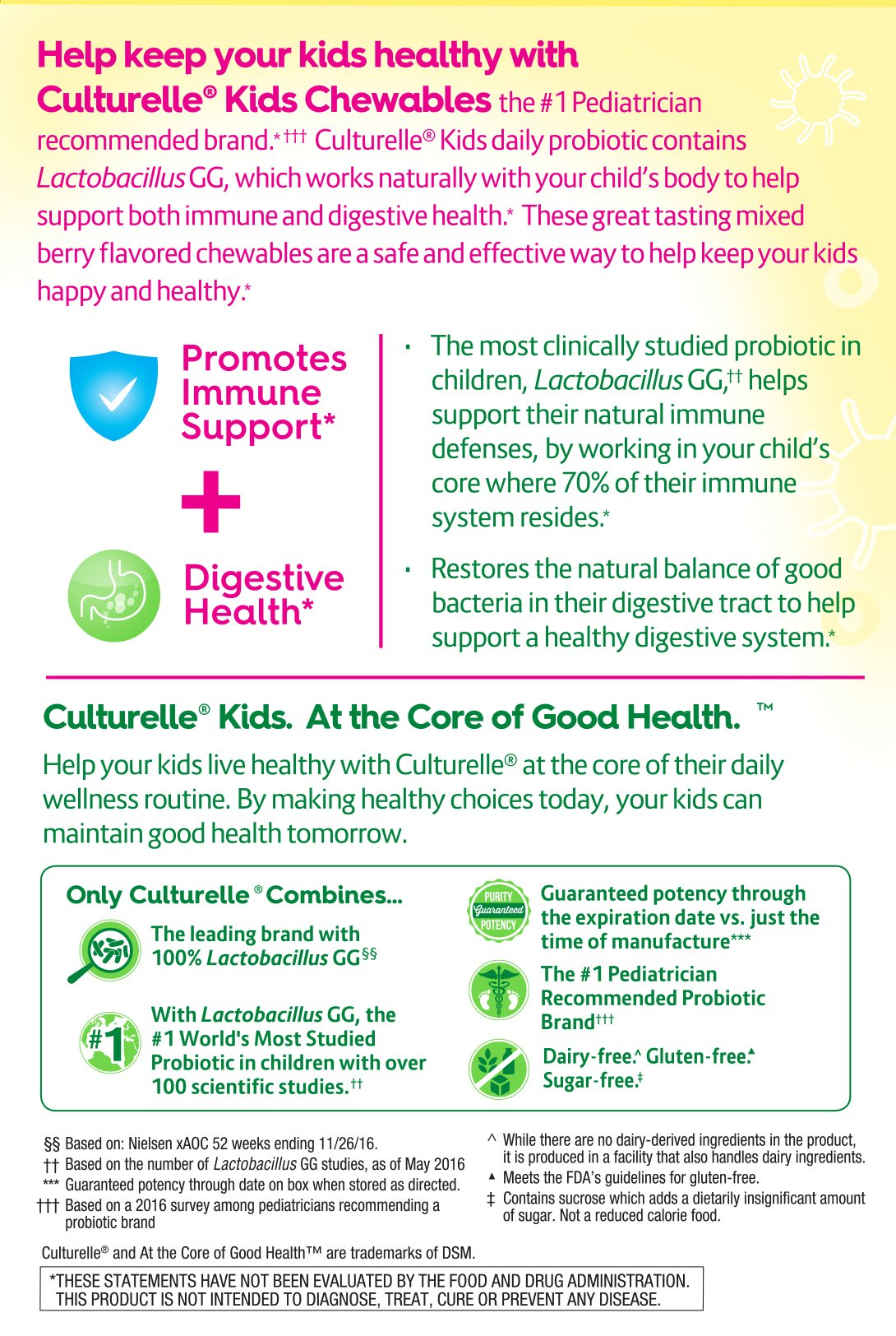 Culturelle Kids Chewables Daily Probiotic Formula, One Per Day Dietary Supplement, Contains 100% Naturally Sourced Lactobacillus GG –The Most Clinically Studied Probiotic, 30 Count(Package may vary) by Culturelle (Image #3)