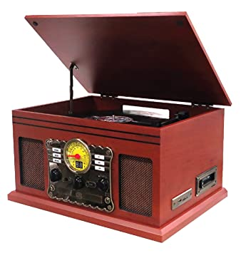 Nostalgie Retro Minicadena | Tocadiscos | Equipo estéreo | Cadena ...