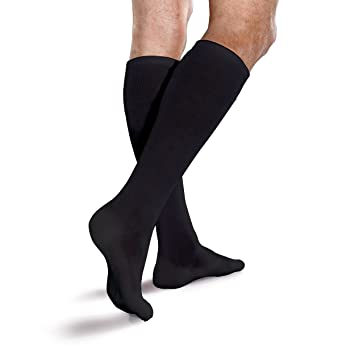 945d0118382 Image Unavailable. Image not available for. Color  Core-Spun Cushioned 15- 20mmHg Mild Graduated Compression Support Knee High Socks (Black