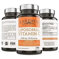 Liposomal Vitamin C 1400MG Per Serving 180 Capsule 90 Serving | China Free Non GMO...