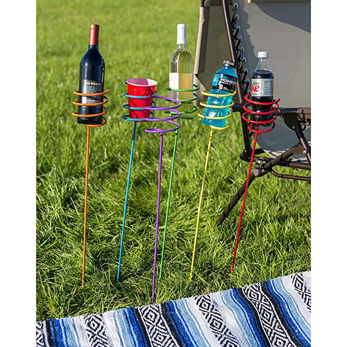 Amazon.com: Sunnydaze Outdoor Yard Drink Holder Stakes, Heavy Duty, Set of  6, Multi Colored: Sunnydaze Decor: Garden & Outdoor - Amazon.com: Sunnydaze Outdoor Yard Drink Holder Stakes, Heavy Duty