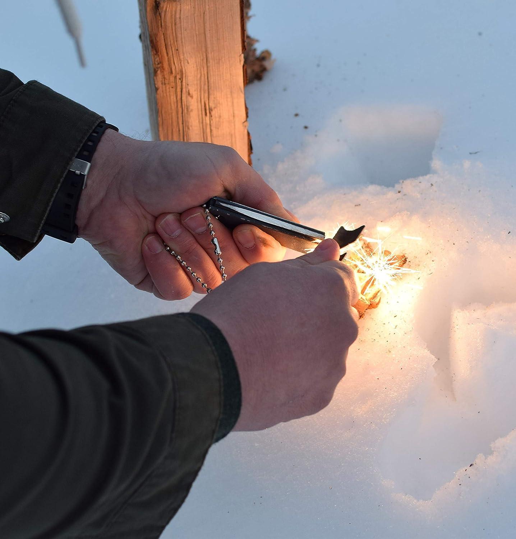 DEMARPA Juego de 2 Fuego Starter para Outdoor & Supervivencia: Bloque de magnesio con pedernal y - sischem, Largo Fuego Acero FS Pro XL: Amazon.es: Deportes ...