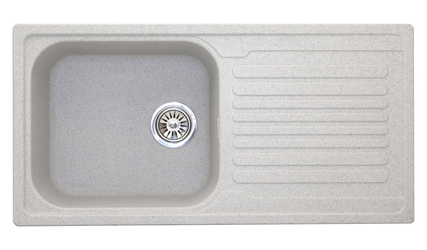 Zinzer Granite Quartz Acrylic Single Bowl Drain Board Granular Kitchen Sink 36 Inch Grey Buy Online In India At Desertcart In Productid 147923728