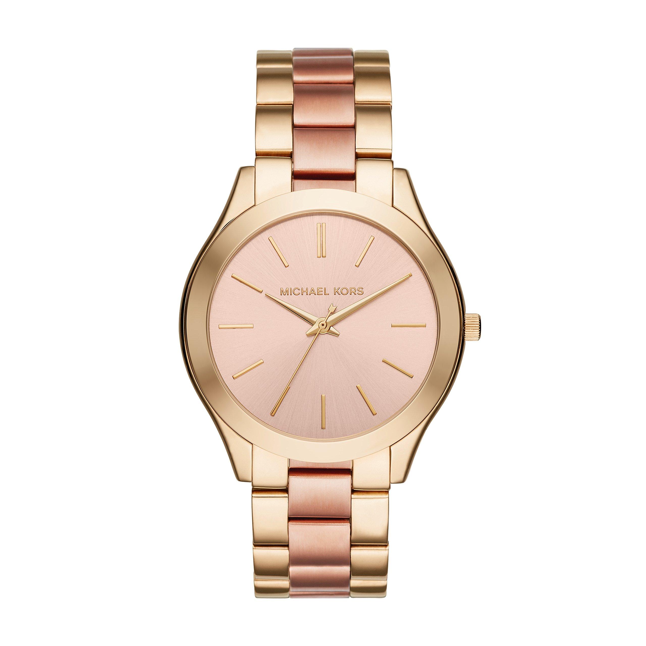 Michael Kors MK3493 Ladies Slim Runway Gold and Rose Bracelet Watch