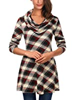DJT Womens Cowl Neck A-Line Tunic Knit Top