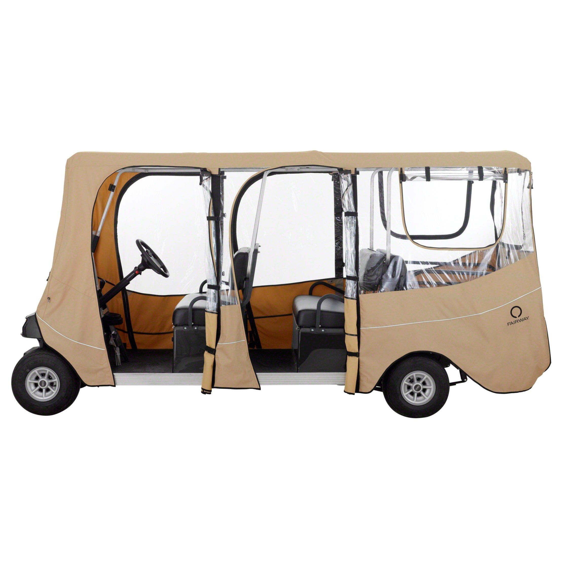Classic Accessories Fairway Golf Cart Deluxe Enclosure, Khaki, Extra Long Roof by Classic Accessories (Image #2)