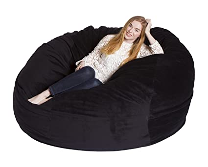 giant bean bag chair Amazon.com: Giant Bean Bag Chairs Premium Foam Filled Lounge Sac  giant bean bag chair
