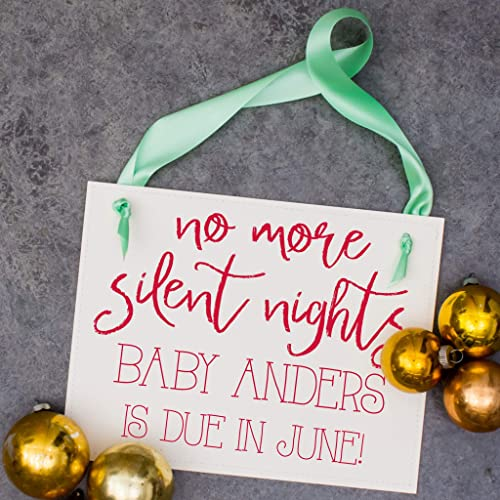 Christmas Date.Amazon Com Christmas Pregnancy Announcement Sign No More