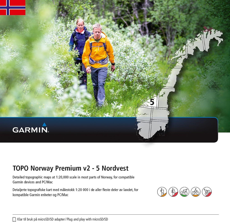 Amazon Com Garmin Topo Norway Maps Premium Sports Outdoors