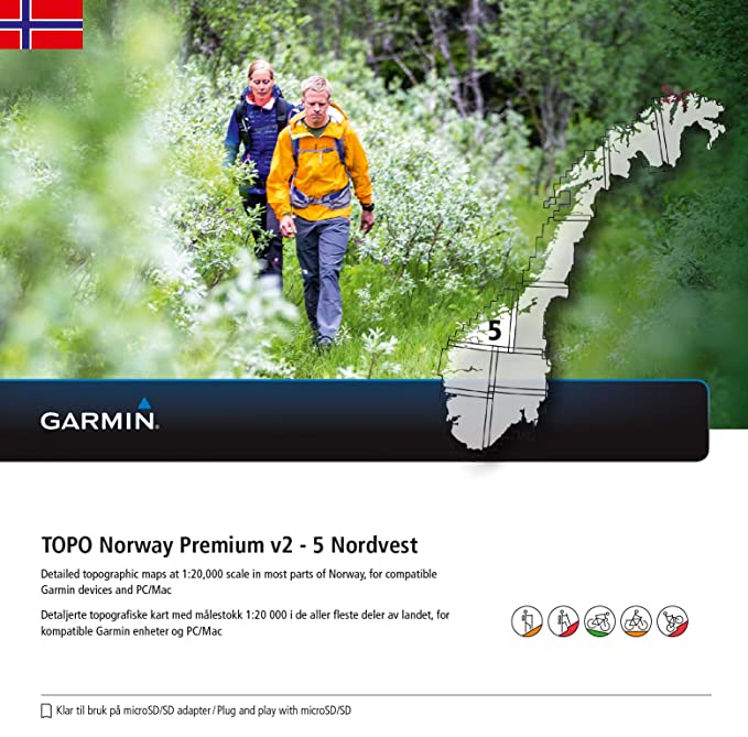 topo kart til garmin Garmin Topo Norway Maps Premium: Amazon.co.uk: Sports & Outdoors topo kart til garmin