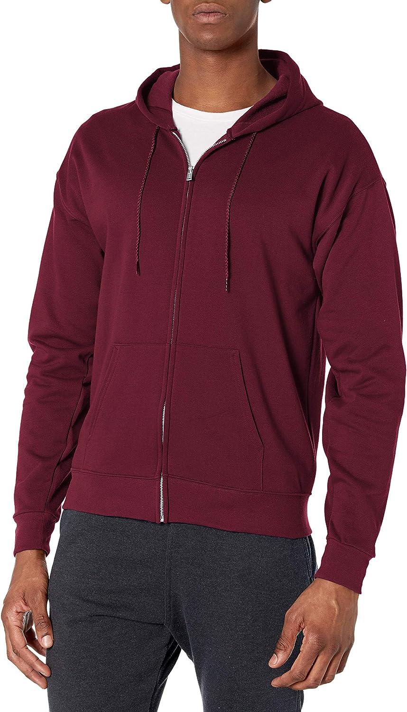 Hanes Men's Full-Zip Eco-Smart Fleece Hoodie