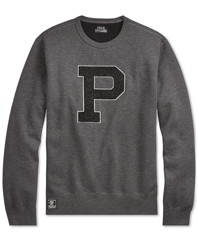 1fb7a63ec Ralph Lauren Polo Men Men's Chenille P Logo Double-Knit Sweatshirt ...