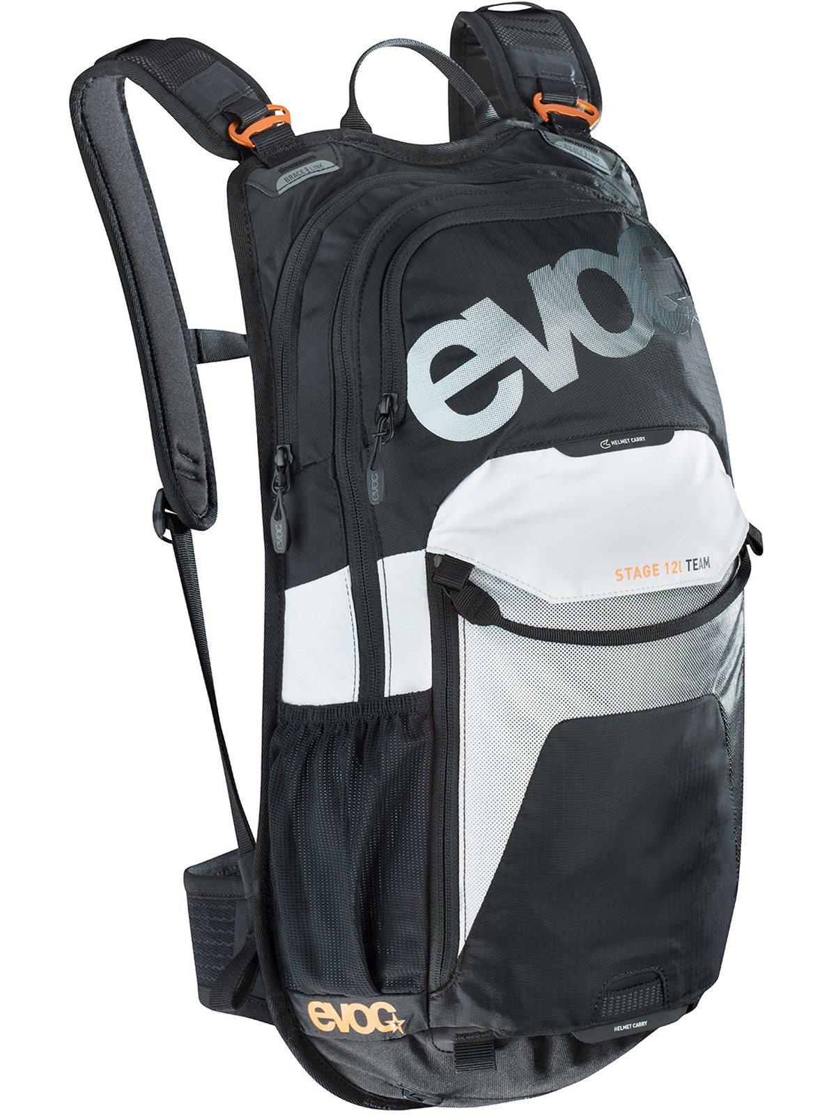 Evoc Black-White-Neon-Orange Stage Team - 12 Litre Hydration Pack Without Reserv (Default , Black)