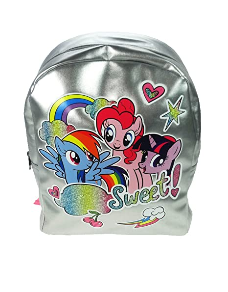 Amazon.com | My Little Pony sweet Style Novelty Girls Backpack Silver 10 Litres | Kids Backpacks