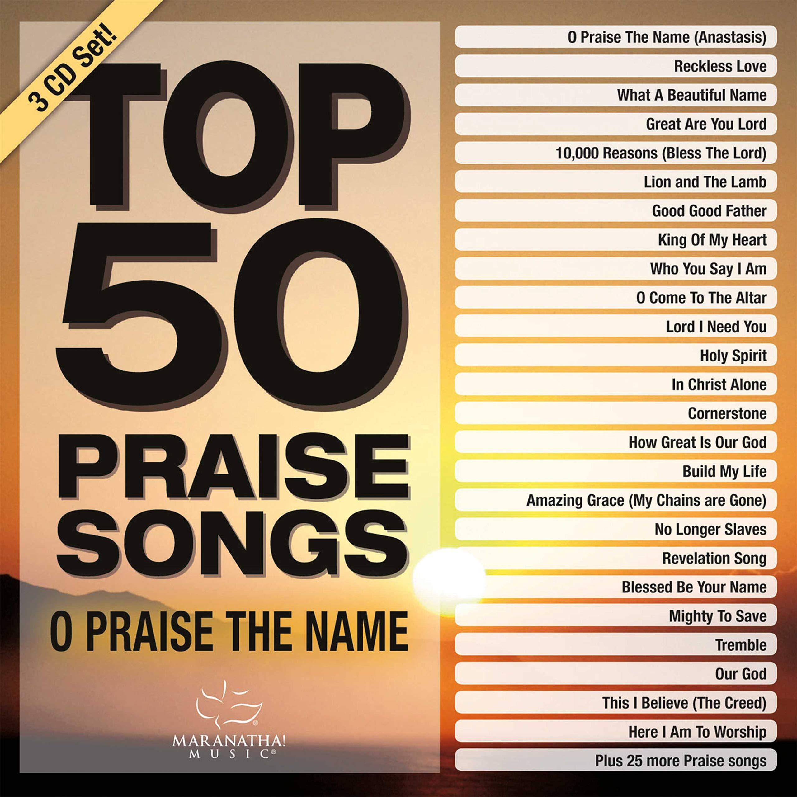 Book Cover: Top 50 Praise Songs - O Praise The Name