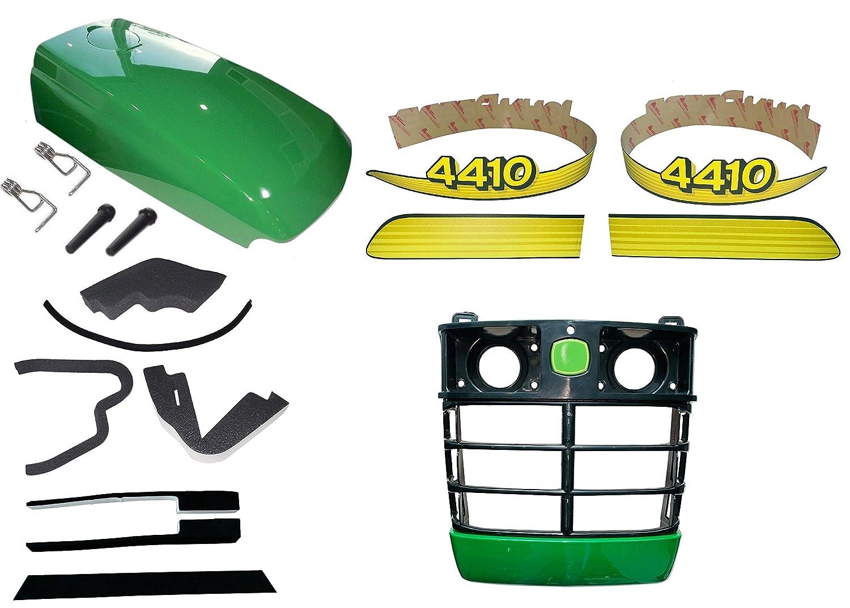 Upper Hood// Fuel Door Kit// Mounting Seals//Stikcers fits John Deere 4310 LOW S//N