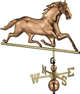 Good Directions Horse Weathervane, Pure Copper