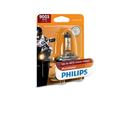 Philips 9003MVB1 MotoVision Motorcycle and Powersport Replacement Headlight Bulb, 1 Pack: Automotive