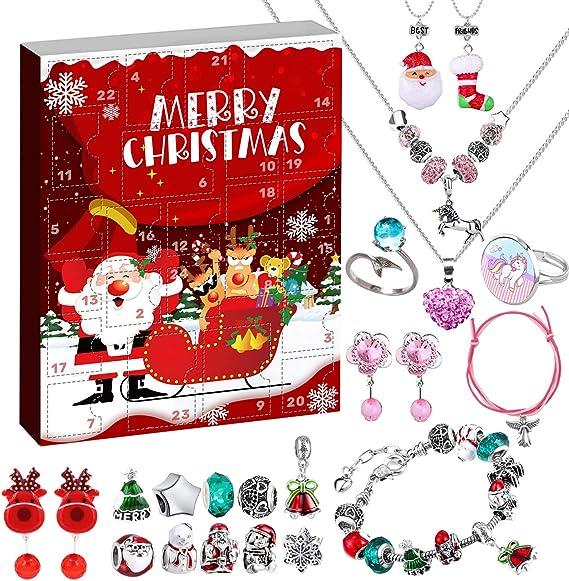bracelet girls charms rings hair bands Hair accessories advent calendar Christmas 2020 advent calendar children Christmas gift for girls.