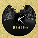 VinylShopUS - Beale Street Vinyl Wall Clock Music