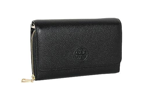 91de2d6c432c6 Tory Burch Women s Bombe Flat Wallet Crossbody Bag Leather Small Handbag   Amazon.ca  Shoes   Handbags