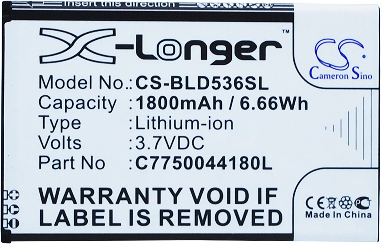 Replacement Battery for BLU D030 D030L D030U D030UX D536 D536L D536U D536X Dash M Studio 5.0C Studio 5.0CE Studio 5.0ePART NO BLUC775004180L
