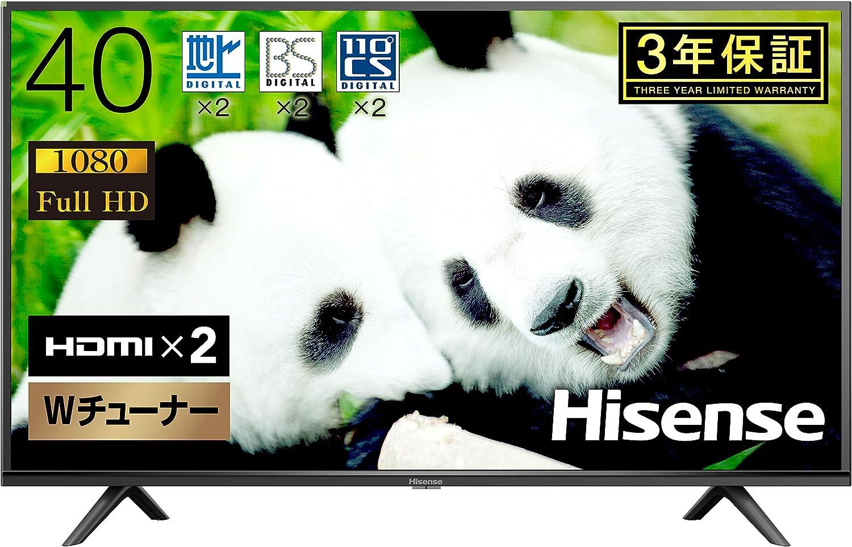 ハイセンス Hisense ハイビジョン液晶テレビ 40V型 40H38E ダブルチューナー裏番組録画対応 2019年モデル