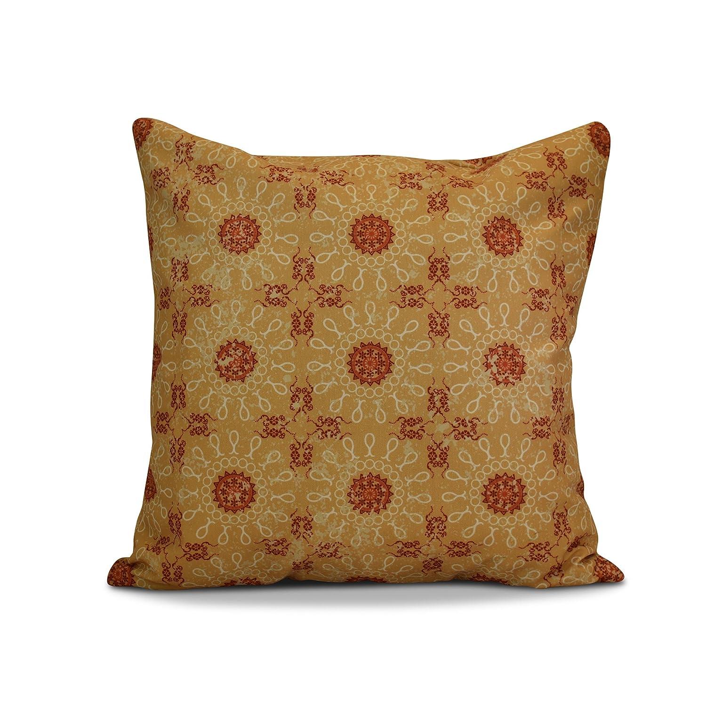 Geometric Print Pillow 18x18 Yellow Sun Tile E by design PGN726YE6-18 18 x 18-inch